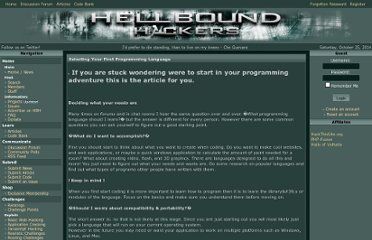 http://www.hellboundhackers.org/articles/884-selecting-your-first-programming-language.html