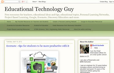 http://educationaltechnologyguy.blogspot.com/2012/04/evernote-tips-for-students-to-be-more.html