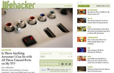 http://lifehacker.com/5900500/is-there-anything-awesome-i-can-do-with-all-these-unused-ports-on-my-tv