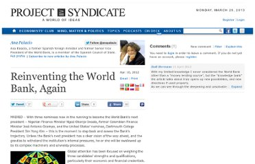 http://www.project-syndicate.org/commentary/reinventing-the-world-bank--again