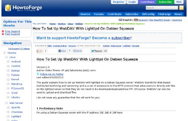 http://www.howtoforge.com/how-to-set-up-webdav-with-lighttpd-on-debian-squeeze