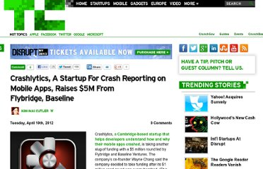 http://techcrunch.com/2012/04/10/crashlytics-a-startup-for-crash-reporting-on-mobile-apps-raises-5m-from-flybridge-baseline/