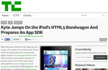 http://techcrunch.com/2010/03/30/kyte-ipad-html5-sdk/