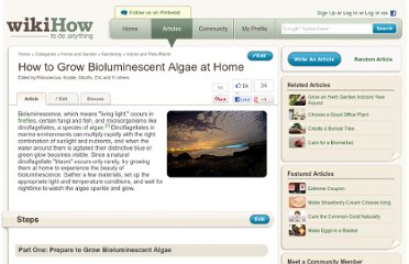 http://www.wikihow.com/Grow-Bioluminescent-Algae-at-Home