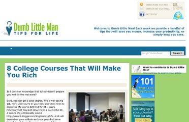 http://www.dumblittleman.com/2008/05/8-college-courses-that-will-make-you.html