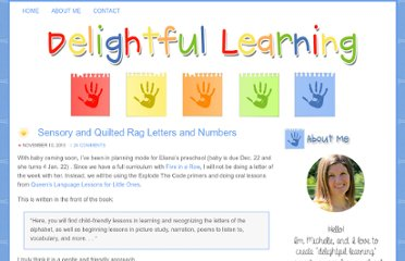 http://delightfullearning.blogspot.com/2010/11/sensory-and-quilted-rag-letters-and.html