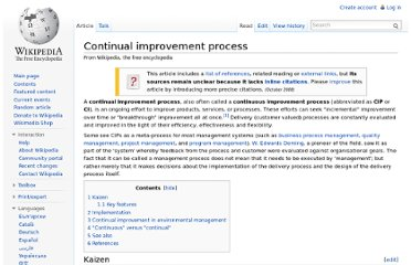 http://en.wikipedia.org/wiki/Continual_improvement_process