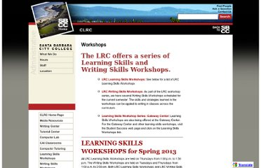 http://www.sbcc.edu/clrc/workshops.php