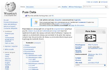 http://fr.wikipedia.org/wiki/Pure_Data