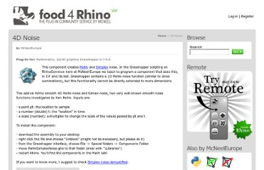 http://www.food4rhino.com/project/4dnoise