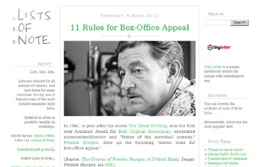 http://www.listsofnote.com/2012/04/11-rules-for-box-office-appeal.html