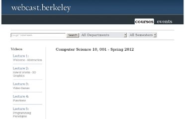 http://webcast.berkeley.edu/playlist#c,d,Computer_Science,B060A68F57805734