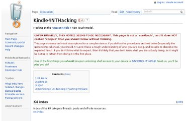 http://wiki.mobileread.com/wiki/Kindle4NTHacking#Gaining_root_access