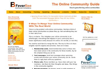 http://www.feverbee.com/2010/03/8-ways-to-merge-your-online-community-with-the-real-world.html