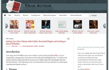 http://dearauthor.com/ebooks/dear-jane-ebooks/setting-up-a-new-library-with-calibre/