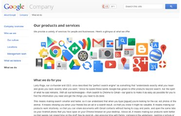 http://www.google.com/about/company/products/