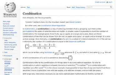 http://en.wikipedia.org/wiki/Combination