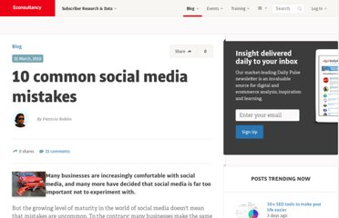 http://econsultancy.com/blog/5684-10-common-social-media-mistakes