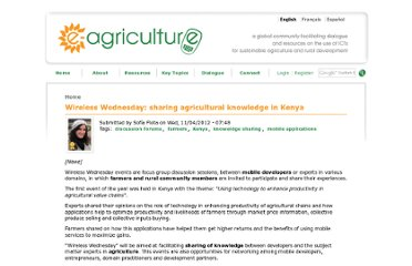 http://www.e-agriculture.org/news/wireless-wednesday-sharing-agricultural-knowledge-kenya