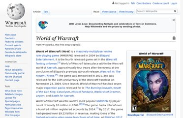 http://en.wikipedia.org/wiki/World_of_Warcraft