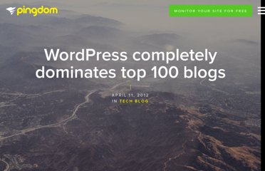 http://royal.pingdom.com/2012/04/11/wordpress-completely-dominates-top-100-blogs/