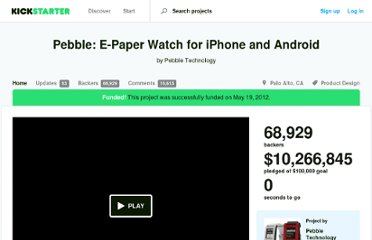 http://www.kickstarter.com/projects/597507018/pebble-e-paper-watch-for-iphone-and-android