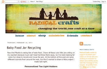 http://radicalcrafts.blogspot.com/2011/02/baby-food-jar-recycling.html
