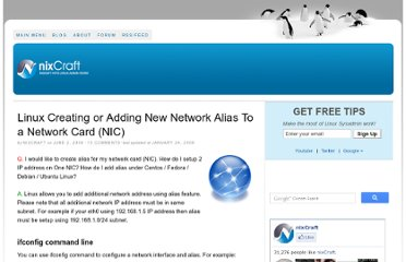 http://www.cyberciti.biz/faq/linux-creating-or-adding-new-network-alias-to-a-network-card-nic/