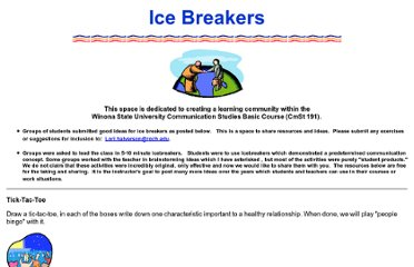 http://www.roch.edu/people/lhalverson/icebreakers.htm