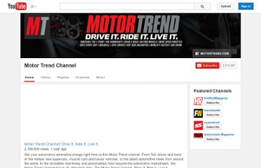 http://www.youtube.com/user/MotorTrend