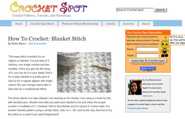 http://www.crochetspot.com/how-to-crochet-blanket-stitch/