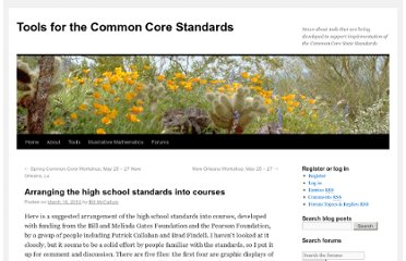 http://commoncoretools.me/2012/03/16/arranging-the-high-school-standards-into-courses/