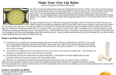 http://mountainroseherbs.com/newsletter/06/lip_balm.php