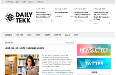 http://dailytekk.com/2012/04/09/edtech-100-tech-tools-for-teachers-and-students/#teachers