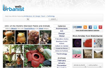 http://weburbanist.com/2008/11/24/strange-amazing-rare-plants-animals-species/