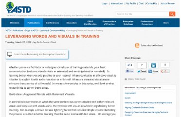 http://www.astd.org/Publications/Blogs/L-and-D-Blog/2012/03/Leveraging-Words-and-Visuals-in-Training
