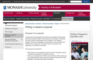 http://www.education.monash.edu.au/students/current/study-resources/proposalwriting.html