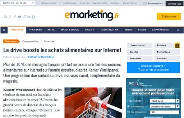 http://www.e-marketing.fr/Breves/Le-drive-drive-les-achats-alimentaires-sur-internet-45697.htm