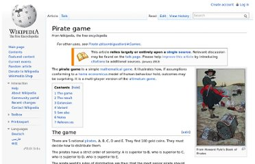 http://en.wikipedia.org/wiki/Pirate_game