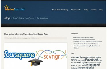 http://geniusrecruiter.com/2012/01/04/how-universities-are-using-location-based-apps/