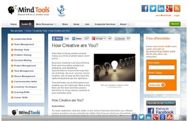 http://www.mindtools.com/pages/article/creativity-quiz.htm#np