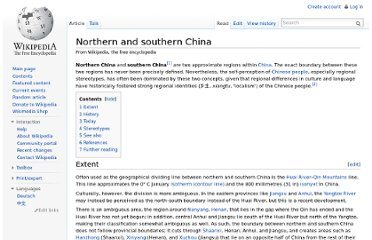 http://en.wikipedia.org/wiki/Northern_and_southern_China