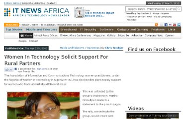 http://www.itnewsafrica.com/2012/04/women-in-technology-solicit-support-for-rural-partners/