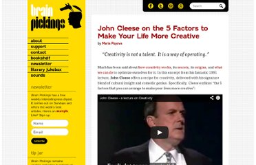 http://www.brainpickings.org/index.php/2012/04/12/john-cleese-on-creativity-1991/