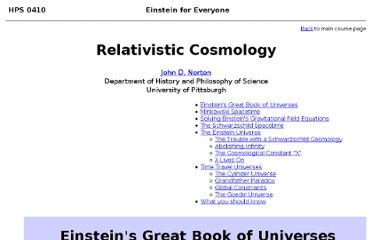 http://www.pitt.edu/~jdnorton/teaching/HPS_0410/chapters/relativistic_cosmology/index.html