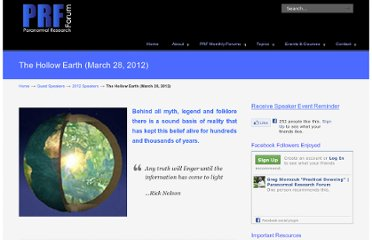 http://paranormalresearchforum.net/the-hollow-earth/