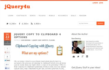 http://www.jquery4u.com/plugins/jquery-copy-clipboard-4-options/