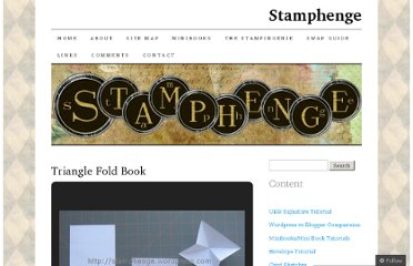 http://stamphenge.wordpress.com/minibooks/triangle-fold-book/
