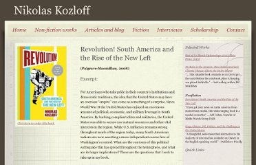http://www.nikolaskozloff.com/revolution__south_america_and_the_rise_of_the_new_left_92324.htm