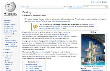 http://en.wikipedia.org/wiki/Diving